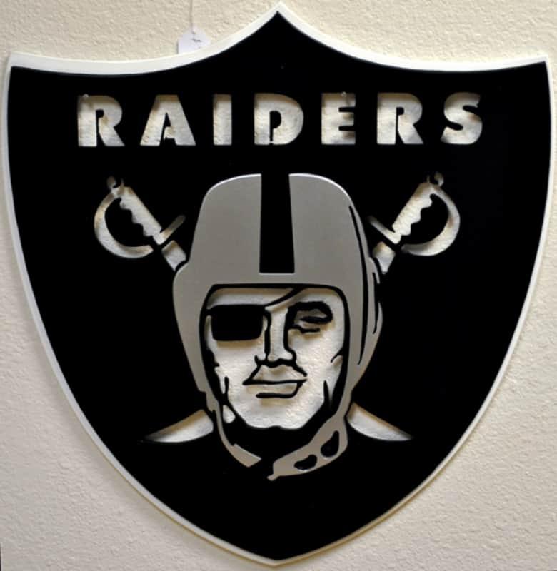 Powder Coat Raiders Sign Wrought Iron Design In Las Vegas