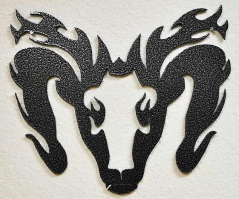 Powder Coat Silver Vein Sign Wrought Iron Design In Las Vegas