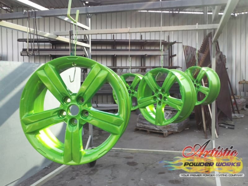 Powder Coat Sparkle Grannysmith Rims Wrought Iron Design In Las Vegas