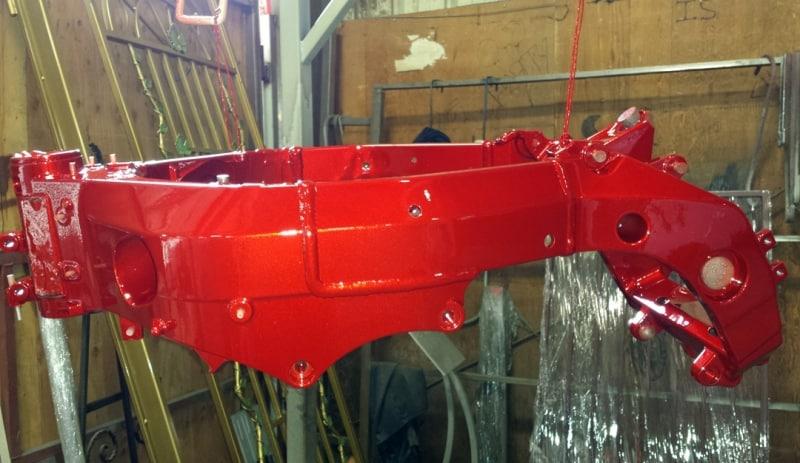Powder Coat Sparkle Red Wrought Iron Design In Las Vegas