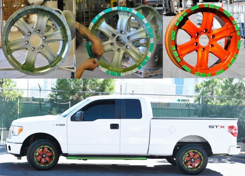Powder Coat Truck Rims Wrought Iron Design In Las Vegas