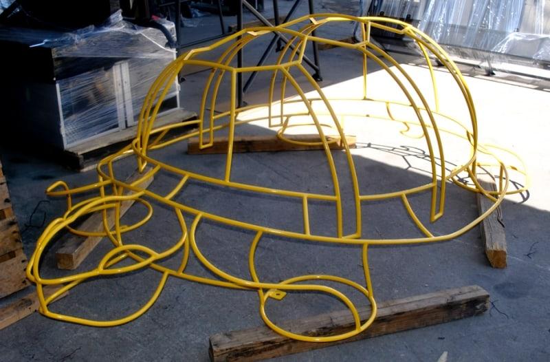 Powder Coat Turtle Bike Rack Wrought Iron Design In Las Vegas