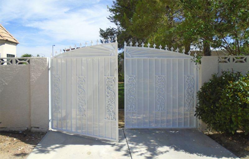 Traditional Double Gate - Item RevereDG0349 Wrought Iron Design In Las Vegas