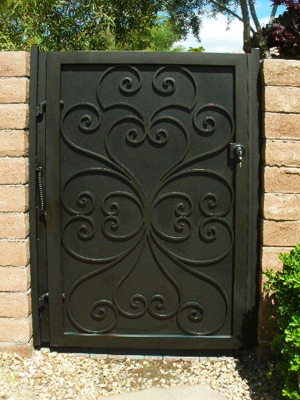 Scrollwork Single Gate - Item RicciSG0202 Wrought Iron Design In Las Vegas
