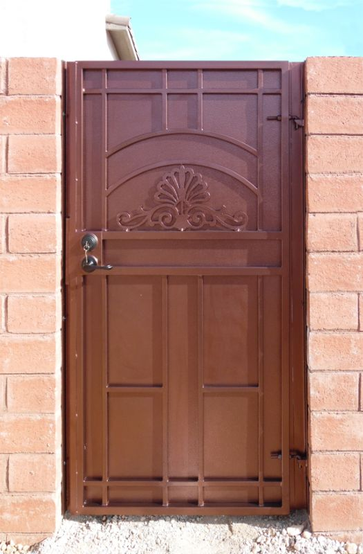 Traditional Single Gate - Item Rockwell SG0524 Wrought Iron Design In Las Vegas