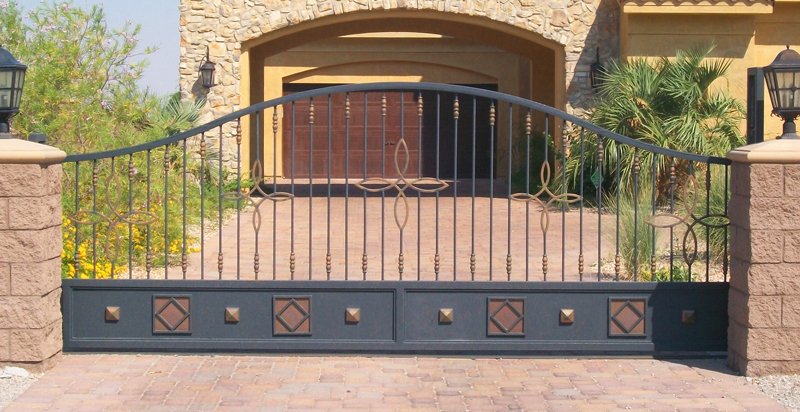 Rolling Gate DG0181 Wrought Iron Design In Las Vegas