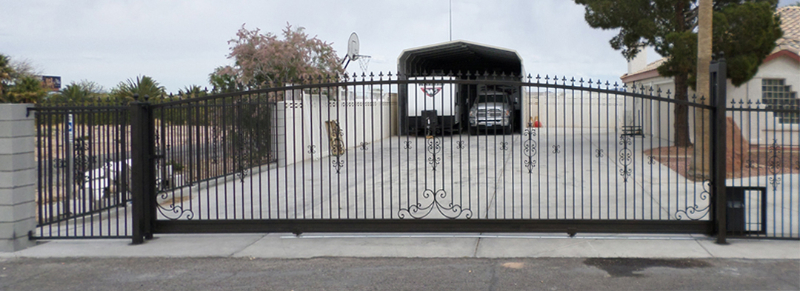 Rolling Gate DG0286 Wrought Iron Design In Las Vegas