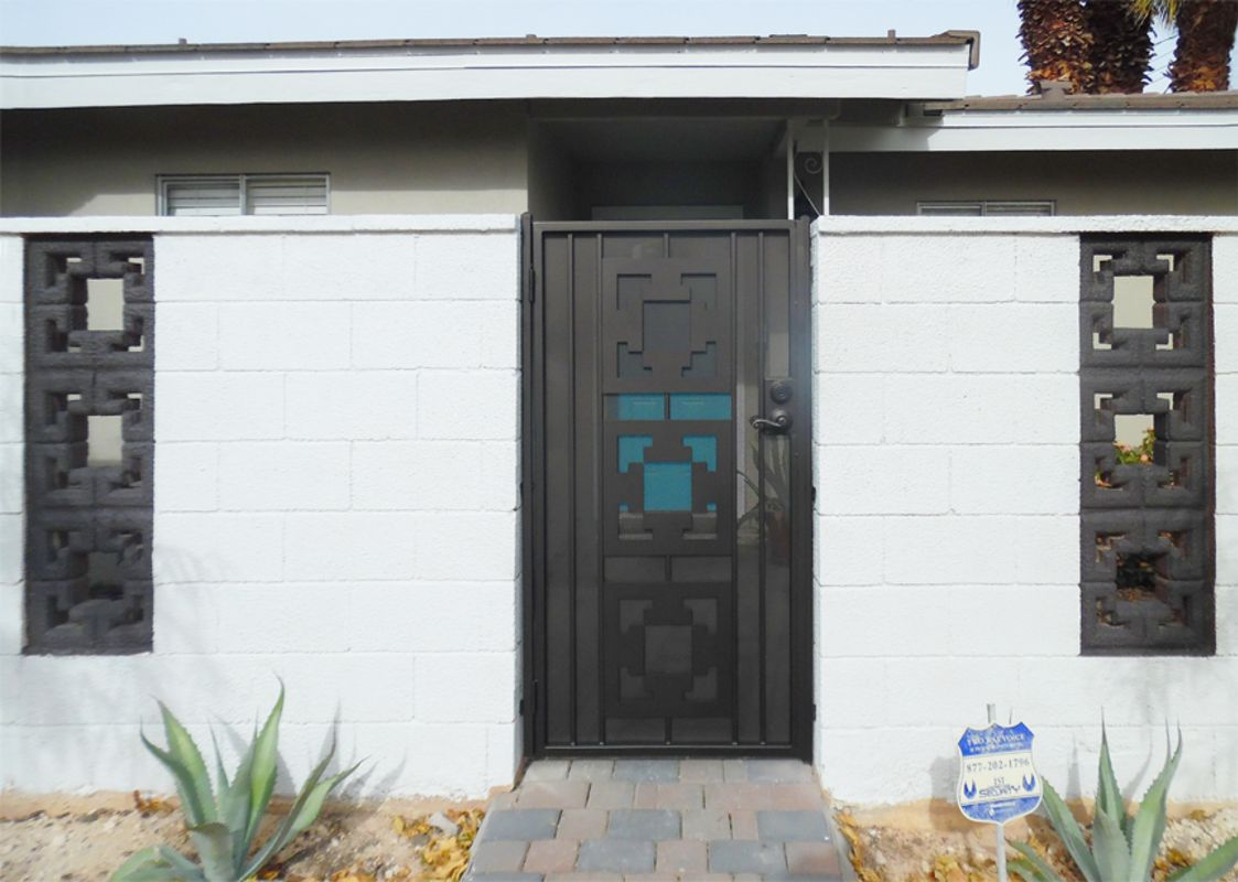 Modern Single Gate - Item SG0542 Wrought Iron Design In Las Vegas