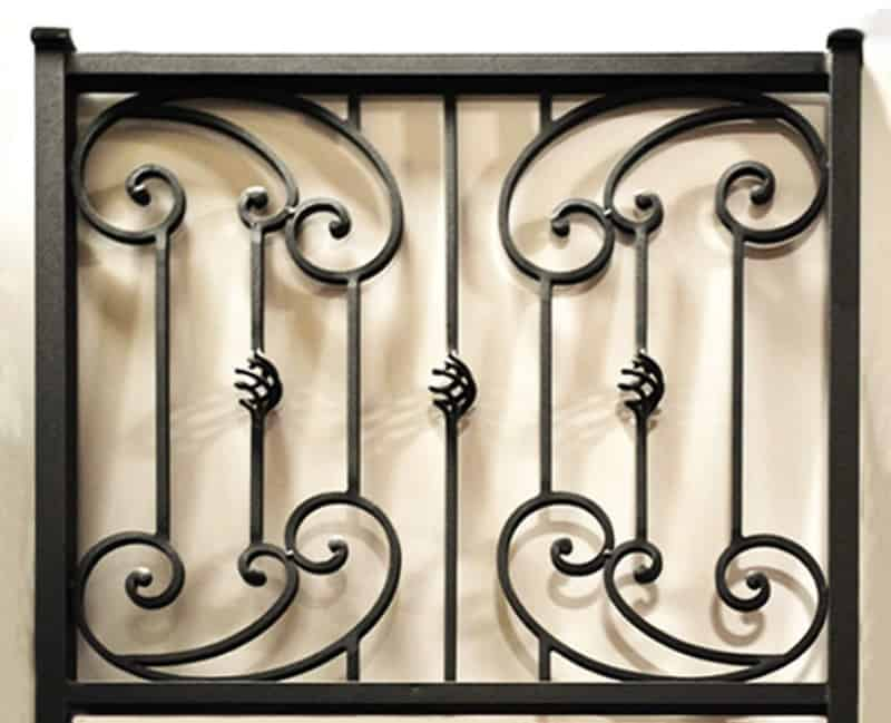 Scrollwork Balcony Railing - Item BR0036 Wrought Iron Design In Las Vegas