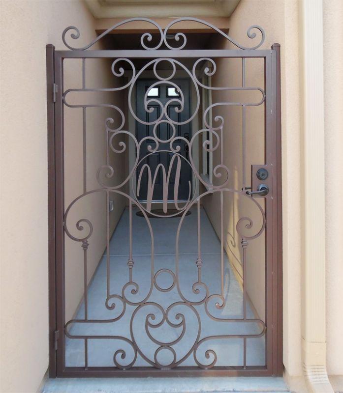 Traditional Single Gate - Item Saharan SG0512 Wrought Iron Design In Las Vegas