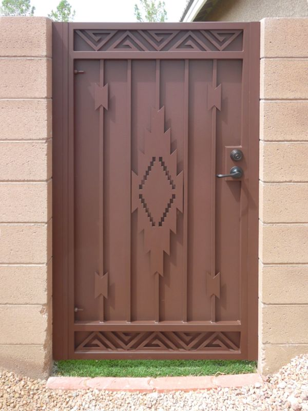 Plasma-Cut Single Gate - Item Santa Fe SG0493 Wrought Iron Design In Las Vegas