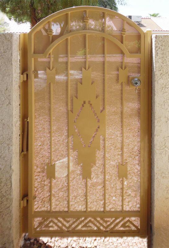 Modern Single Gate - Item Santa FeSG0493B Wrought Iron Design In Las Vegas