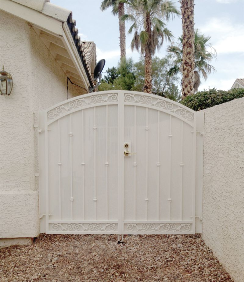 Traditional Double Gate - Item Santiago DG0293B Wrought Iron Design In Las Vegas