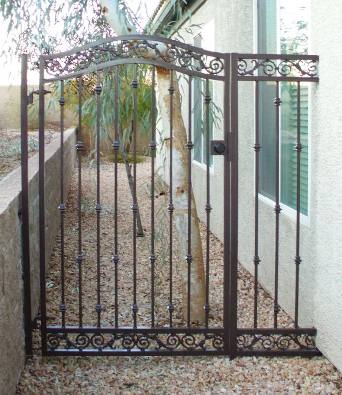 Traditional Single Gate - Item Santiago SG0164 Wrought Iron Design In Las Vegas