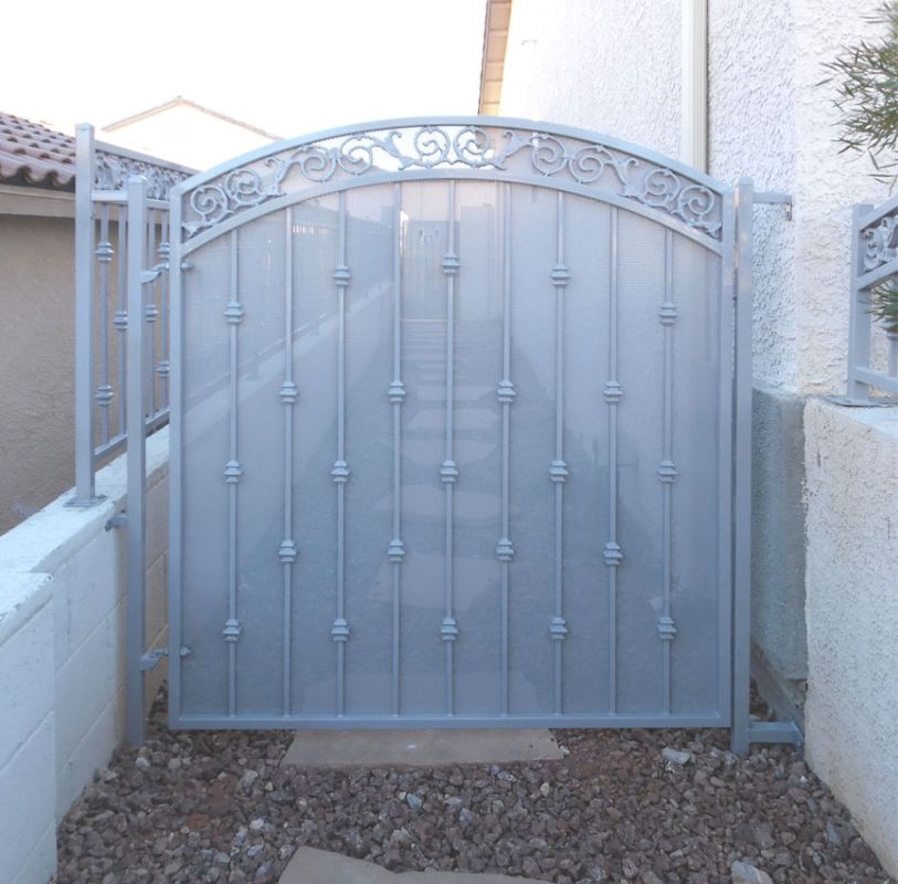 Traditional Single Gate - Item Santiago SG0212A Wrought Iron Design In Las Vegas