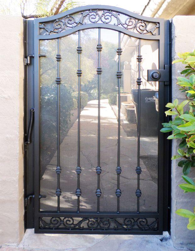 Traditional Single Gate - Item Santiago SG0403 Wrought Iron Design In Las Vegas
