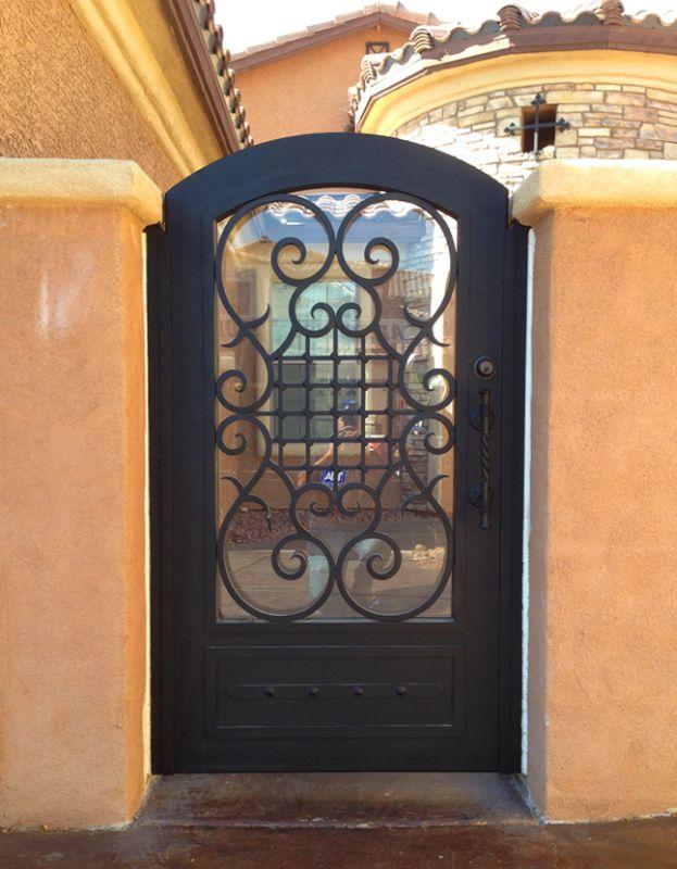 Traditional Single Gate - Item Saxon SG0444 Wrought Iron Design In Las Vegas