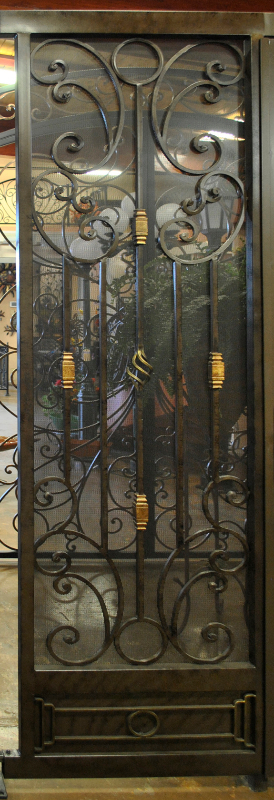 Scrollwork Athena Entryway Door - Item EW0342 Wrought Iron Design In Las Vegas