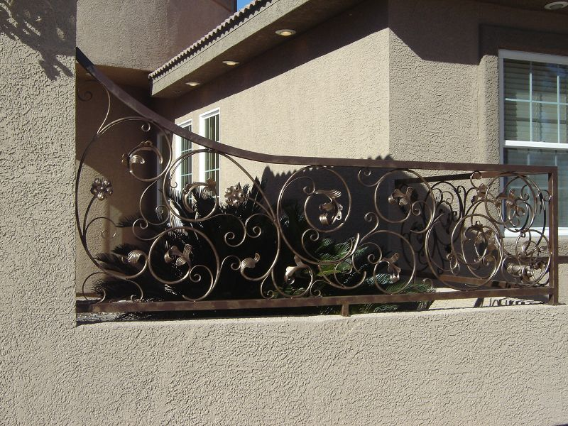 Scrollwork Iron and Block BI0017 Wrought Iron Design In Las Vegas