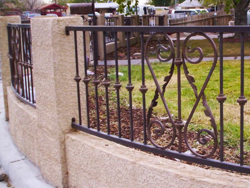 Scrollwork Iron and Block BI0042 Wrought Iron Design In Las Vegas