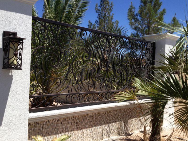Scrollwork Iron and Block BI0066 Wrought Iron Design In Las Vegas