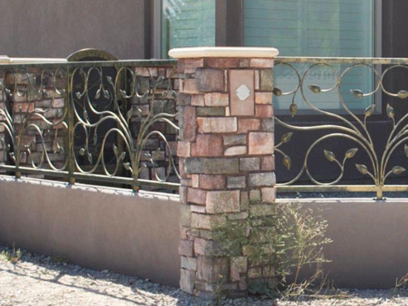 Scrollwork Iron and Block BI0085 Wrought Iron Design In Las Vegas