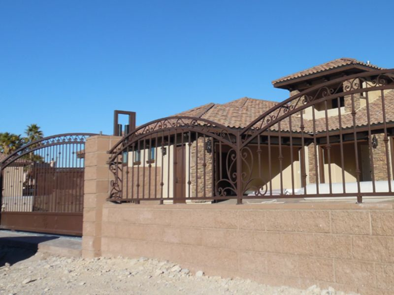 Scrollwork Iron and Block BI0123A Wrought Iron Design In Las Vegas