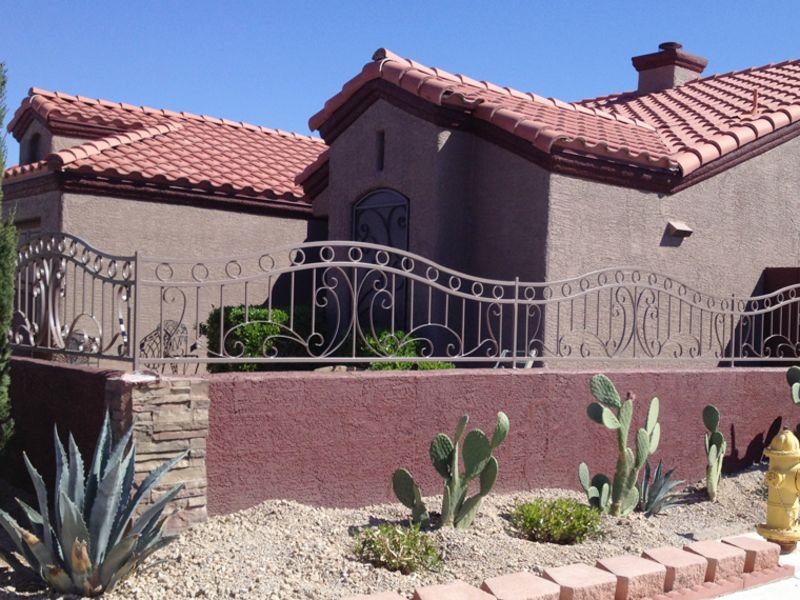 Scrollwork Iron and Block BI0128 Wrought Iron Design In Las Vegas