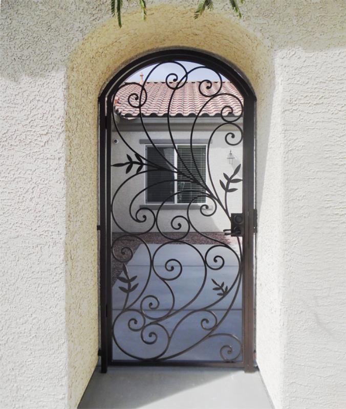 Scrollwork Bellezza Entryway Door - Item EW0287B Wrought Iron Design In Las Vegas
