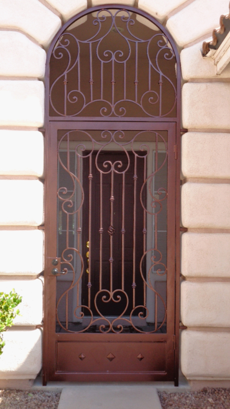 Scrollwork Biscay Entryway Door - Item EW0409 Wrought Iron Design In Las Vegas