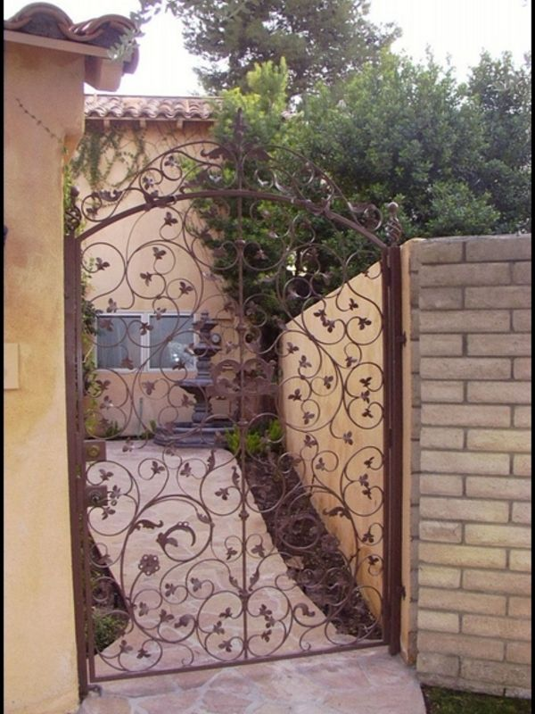 Scrollwork Courtyard & Entryway Gates CE0021 Wrought Iron Design In Las Vegas