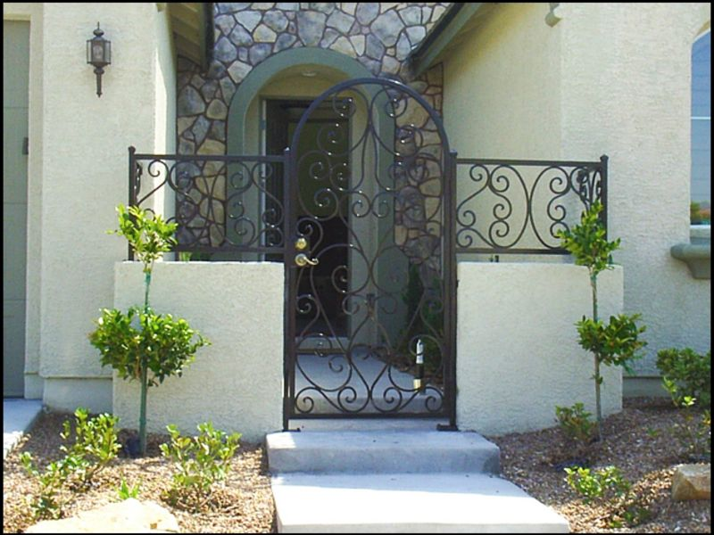 Scrollwork Courtyard & Entryway Gates CE0052 Wrought Iron Design In Las Vegas