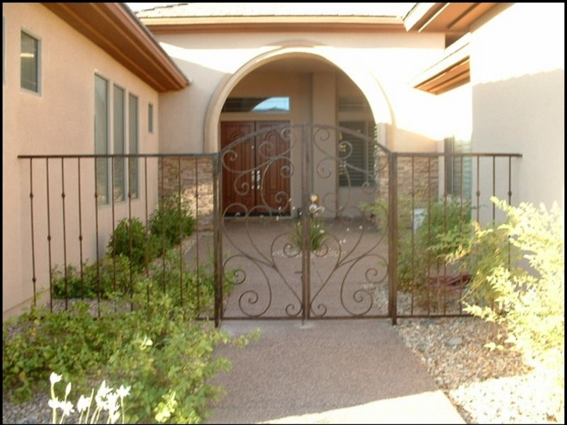 Scrollwork Courtyard & Entryway Gates CE0077 Wrought Iron Design In Las Vegas