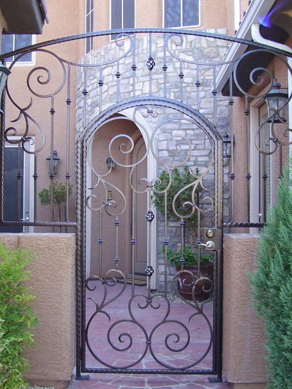 Scrollwork Courtyard & Entryway Gates CE0120 Wrought Iron Design In Las Vegas