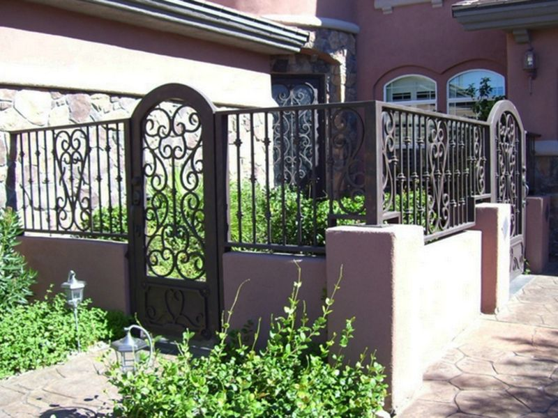Scrollwork Courtyard & Entryway Gates CE0123 Wrought Iron Design In Las Vegas