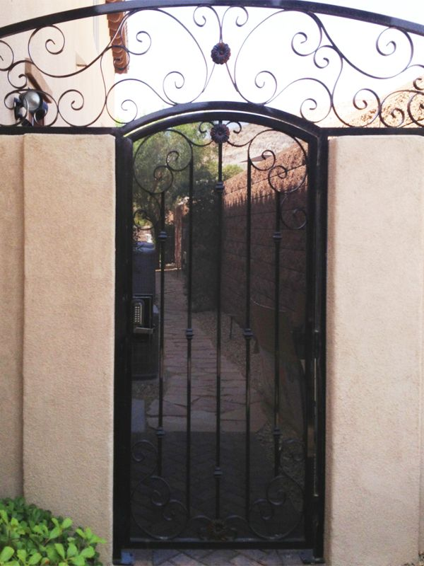 Scrollwork Courtyard & Entryway Gates CE0153 Wrought Iron Design In Las Vegas