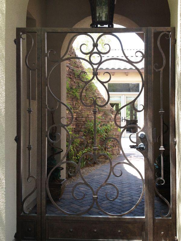 Scrollwork Courtyard & Entryway Gates CE0154 Wrought Iron Design In Las Vegas
