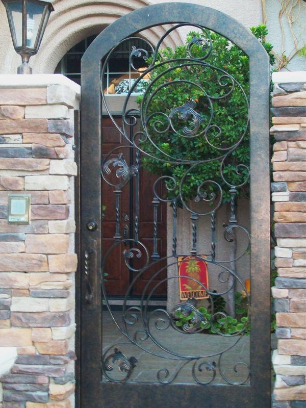 Scrollwork Courtyard & Entryway Gates CE0162 Wrought Iron Design In Las Vegas