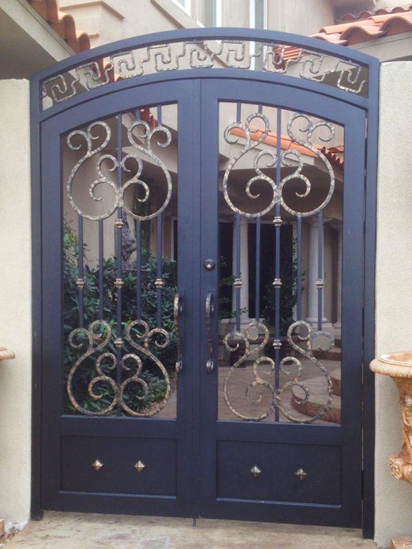 Scrollwork Courtyard & Entryway Gates CE0180 Wrought Iron Design In Las Vegas