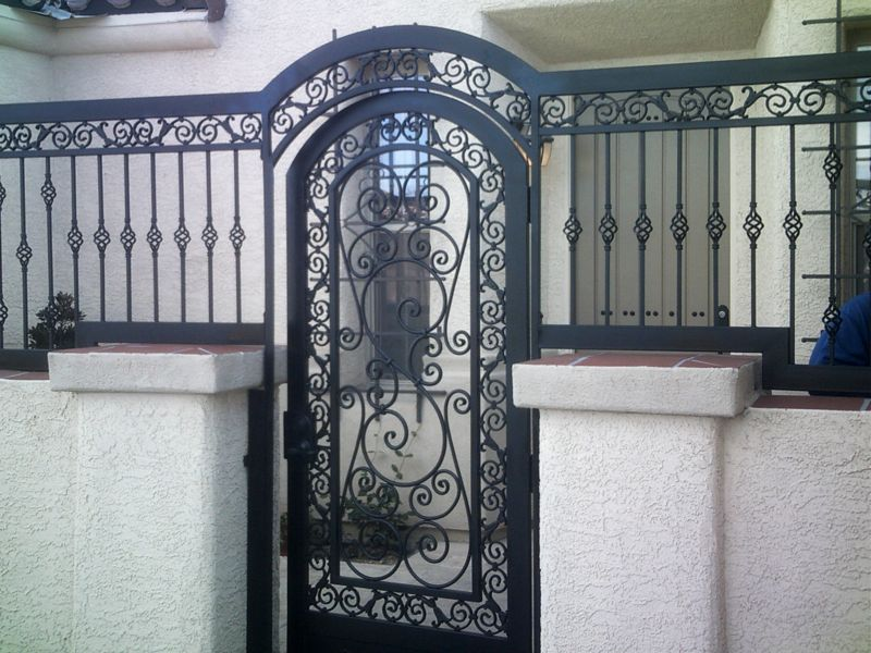 Scrollwork Courtyard & Entryway Gates CE0183 Wrought Iron Design In Las Vegas