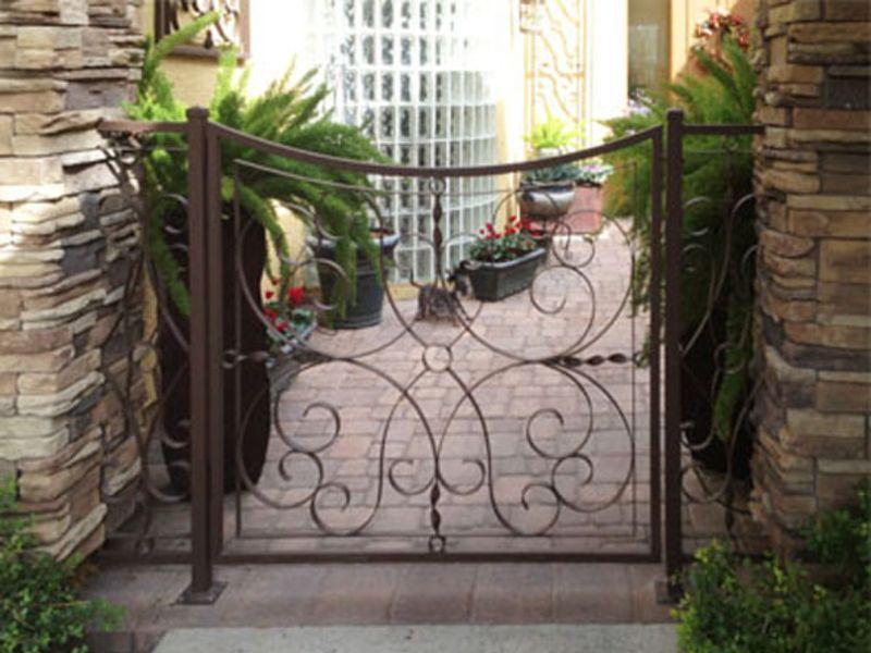 Scrollwork Courtyard & Entryway Gates CE0202 Wrought Iron Design In Las Vegas