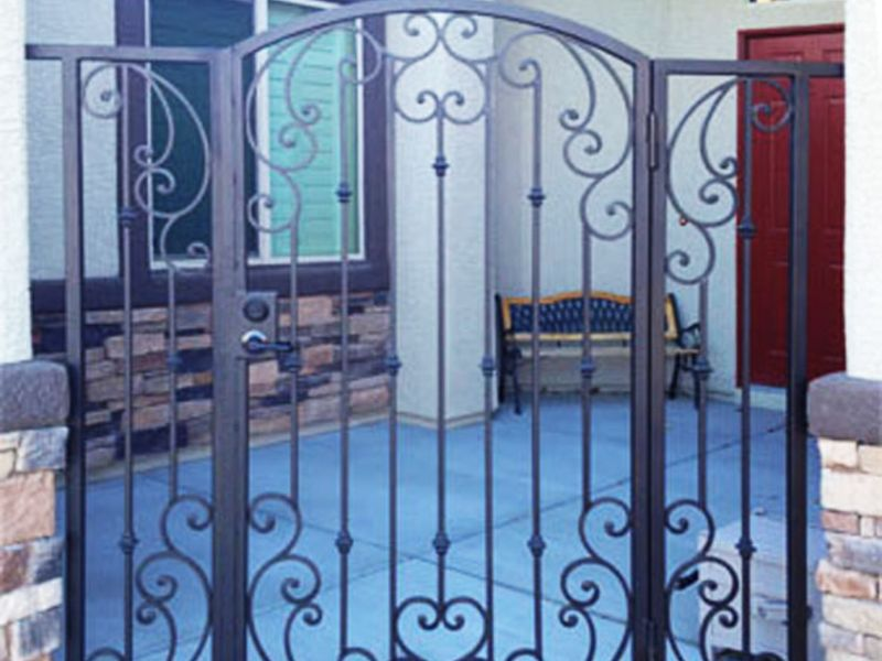 Scrollwork Courtyard & Entryway Gates CE0203 Wrought Iron Design In Las Vegas
