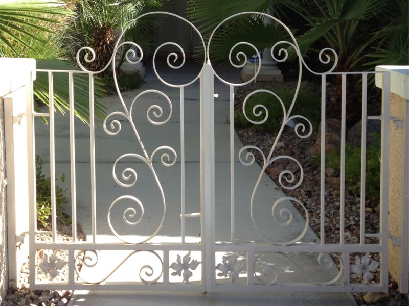 Scrollwork Courtyard & Entryway Gates CE0215 Wrought Iron Design In Las Vegas