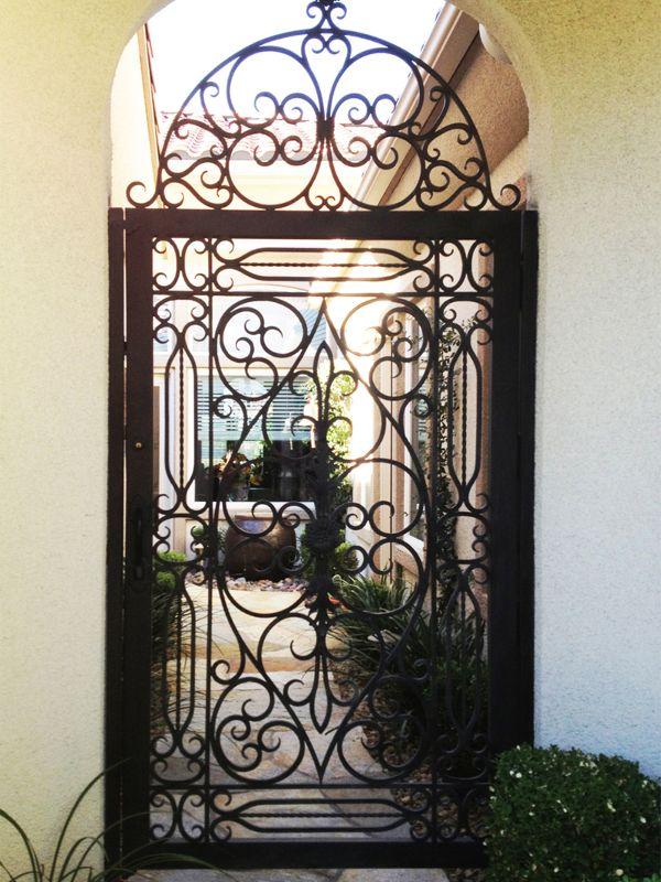 Scrollwork Courtyard & Entryway Gates CE0218 Wrought Iron Design In Las Vegas