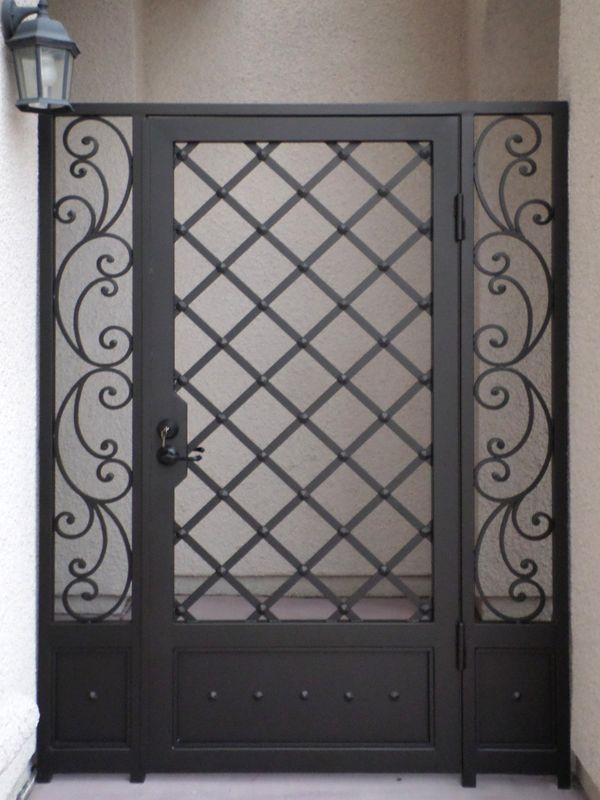 Scrollwork Courtyard & Entryway Gates CE0232 Wrought Iron Design In Las Vegas