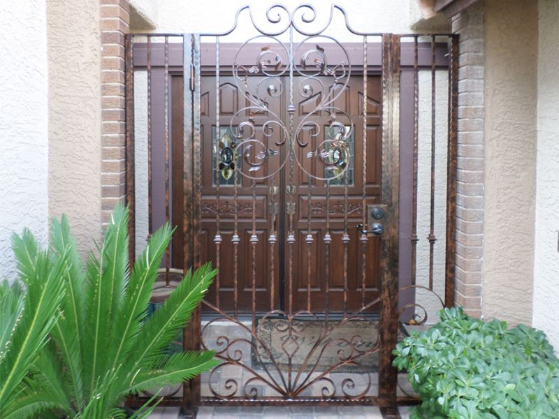 Scrollwork Courtyard & Entryway Gates CE0236 Wrought Iron Design In Las Vegas