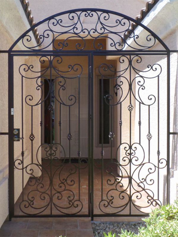 Scrollwork Courtyard & Entryway Gates CE0245 Wrought Iron Design In Las Vegas