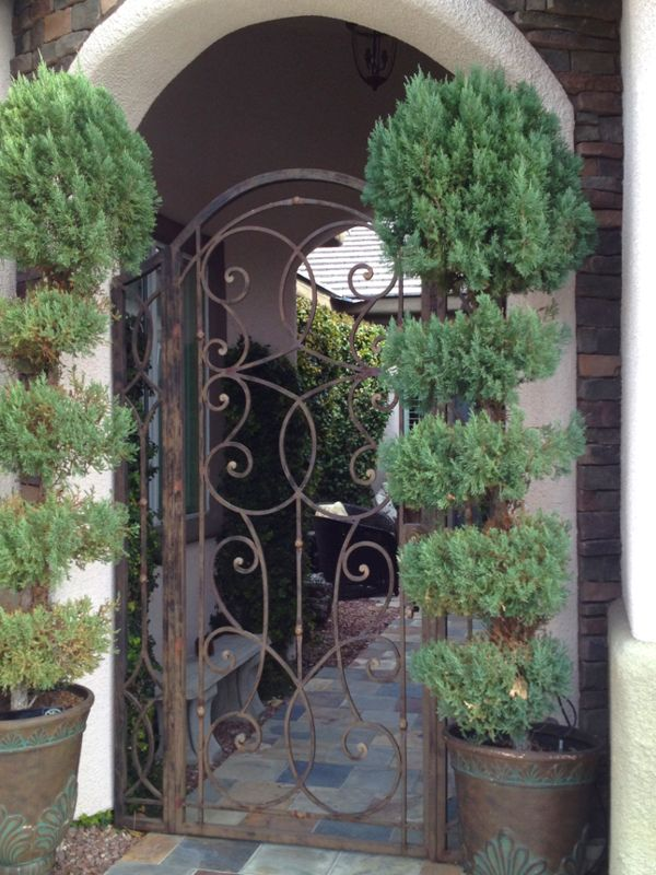 Scrollwork Courtyard & Entryway Gates CE0291 Wrought Iron Design In Las Vegas