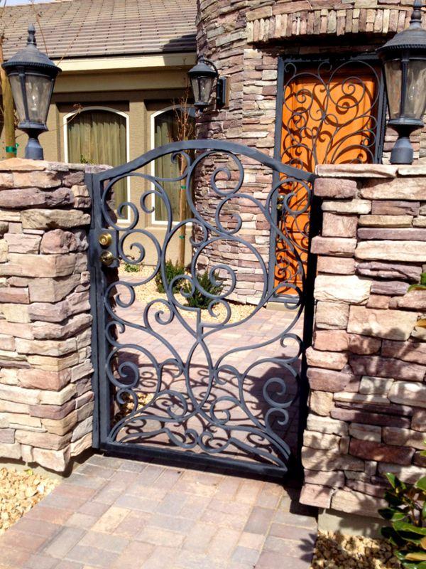 Scrollwork Courtyard & Entryway Gates CE0293 Wrought Iron Design In Las Vegas