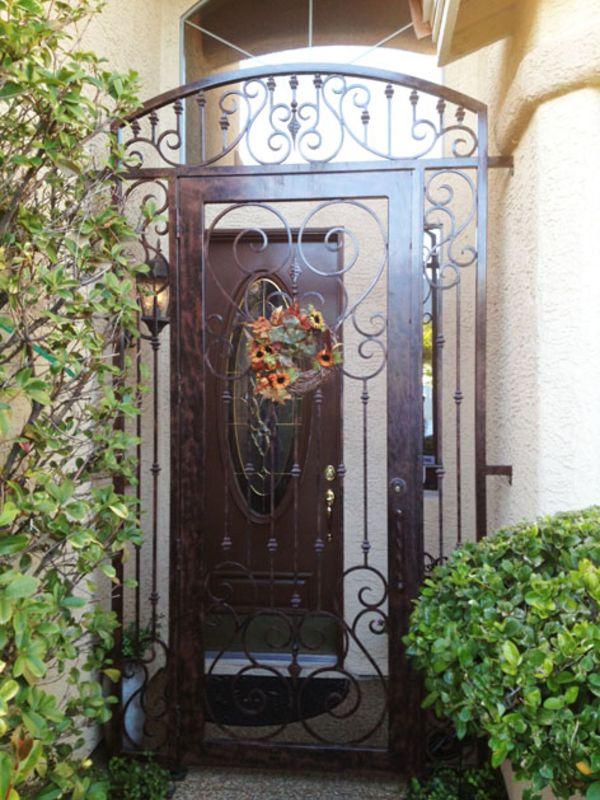 Scrollwork Courtyard & Entryway Gates CE0301 Wrought Iron Design In Las Vegas